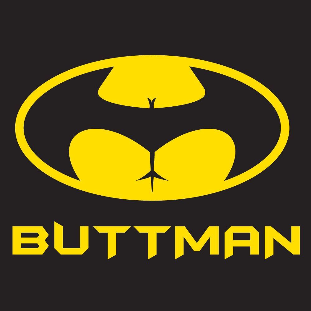 "Batman /""Buttman/"" T Shirt S-XXL Joke Funny Rude Comic"