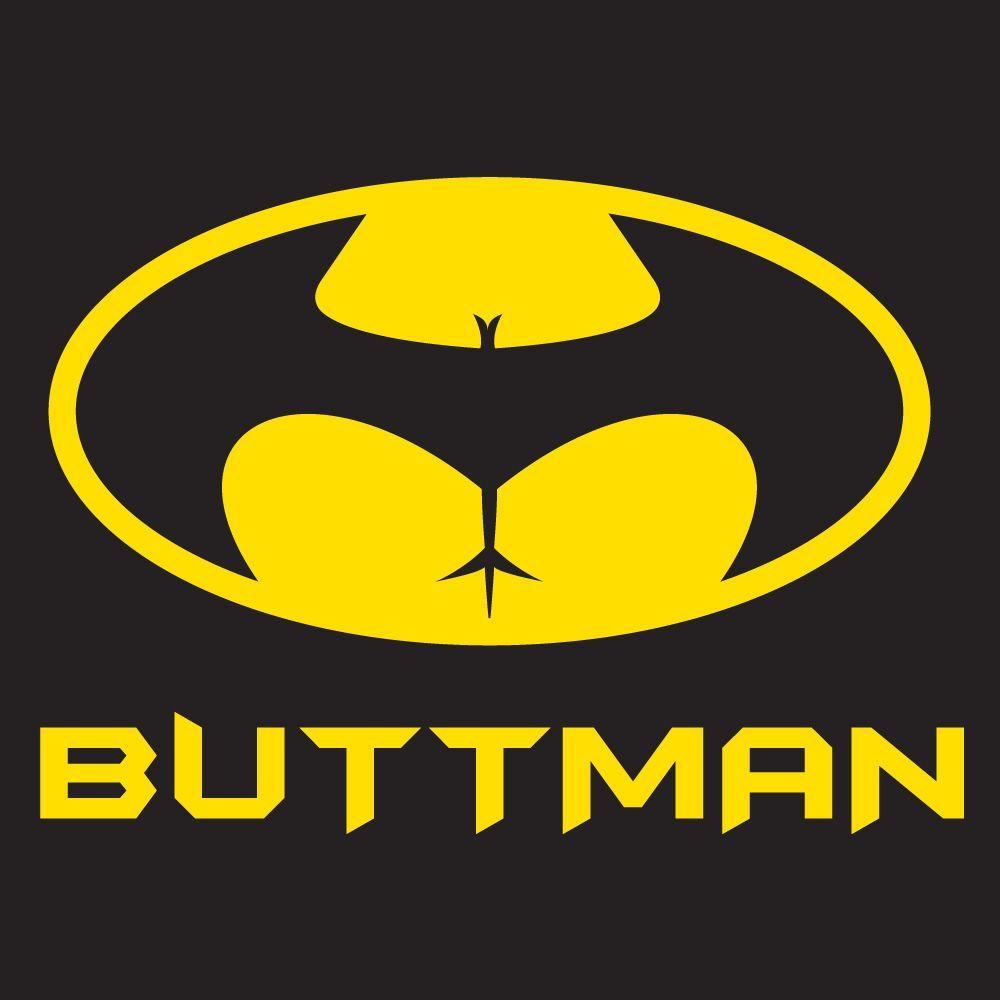 "Batman /""Buttman/"" T Shirt S-XXL Joke Funny Rude Comic"