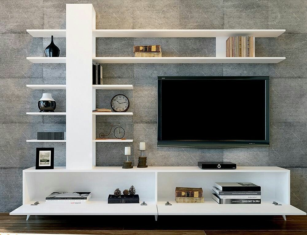 50 Images Of Modern Floating Wall Theater Entertainment Design Ideas With Shelves Bahay Ofw Tv Cabinet Design Living Room Tv Unit Tv Unit Furniture Design
