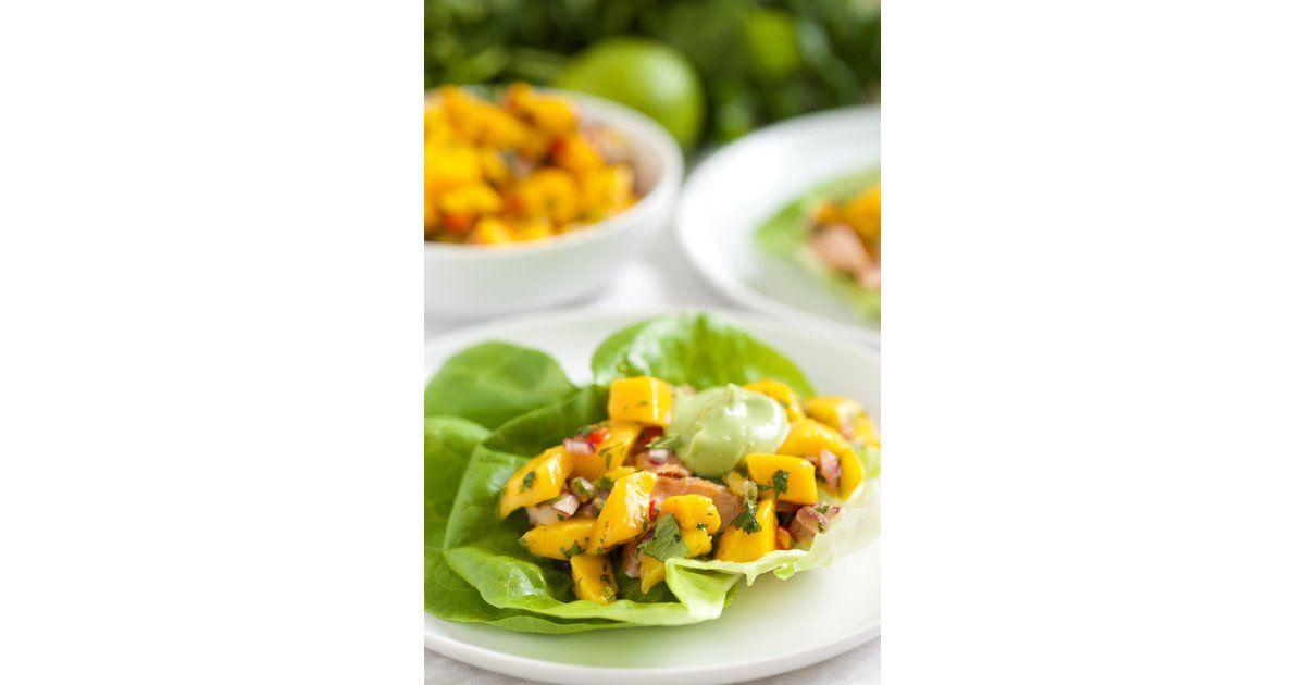 Fish Taco Lettuce Wraps With Mango Salsa