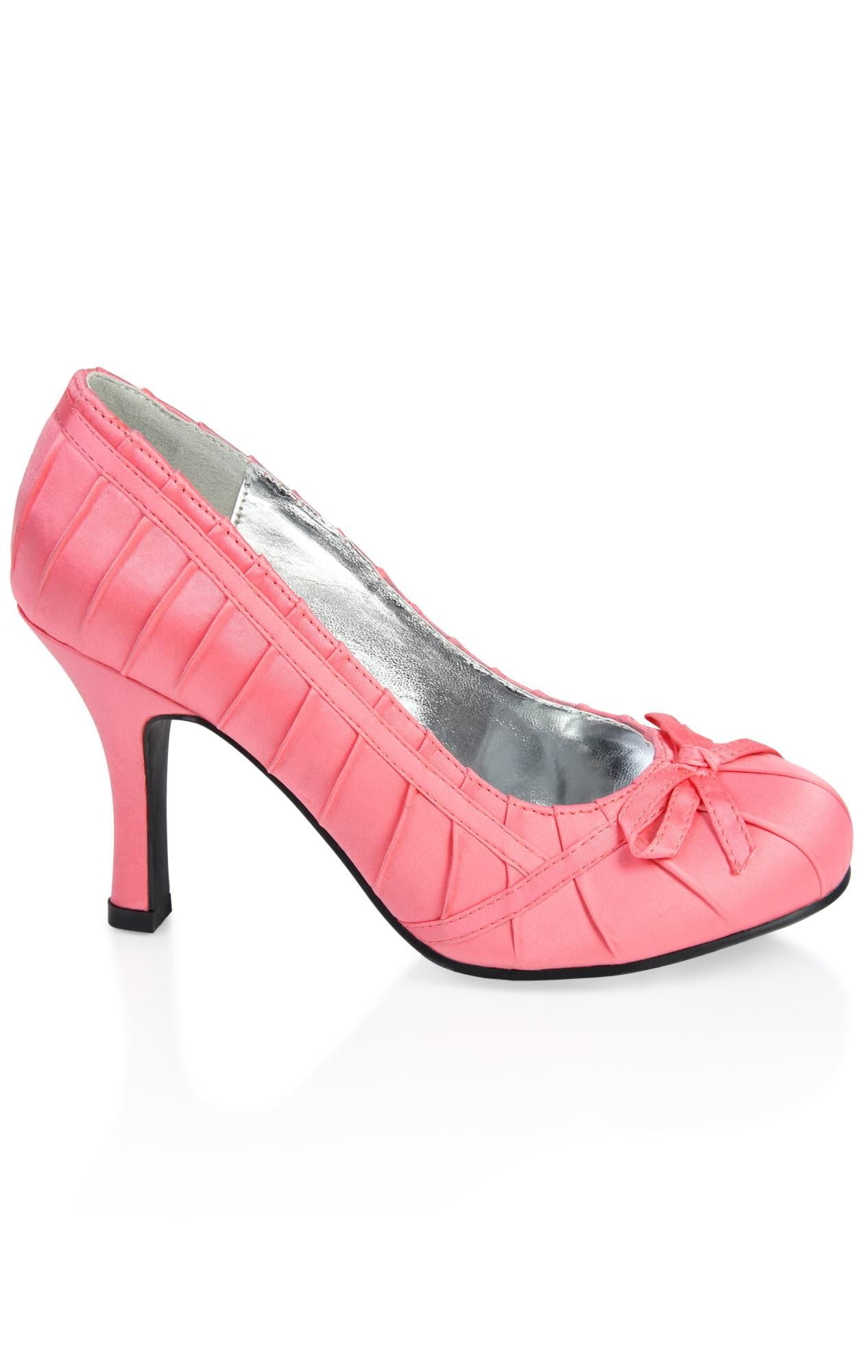 pleated satin high heel with bow (With images) Heels
