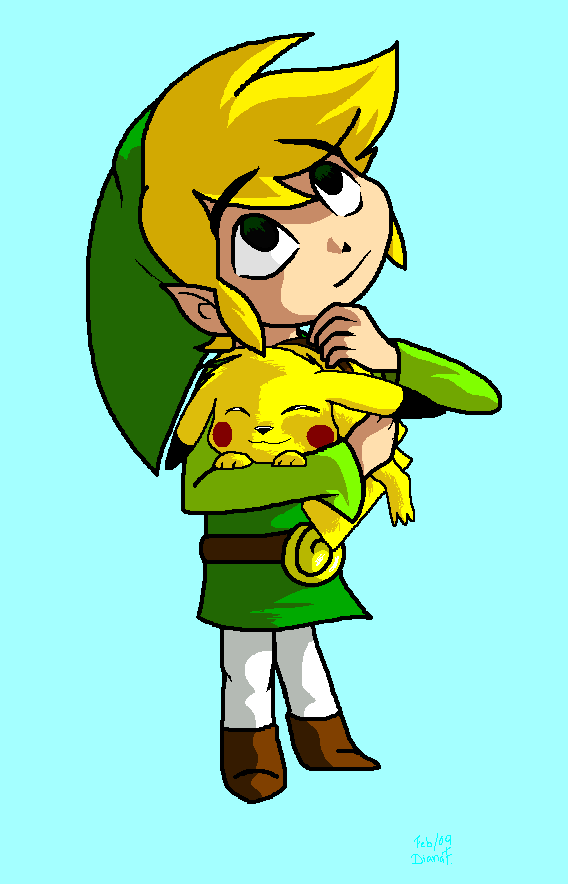 Toon Link And Pikachu By Bluelink On Deviantart Pikachu Cute Pikachu Anime Inspired