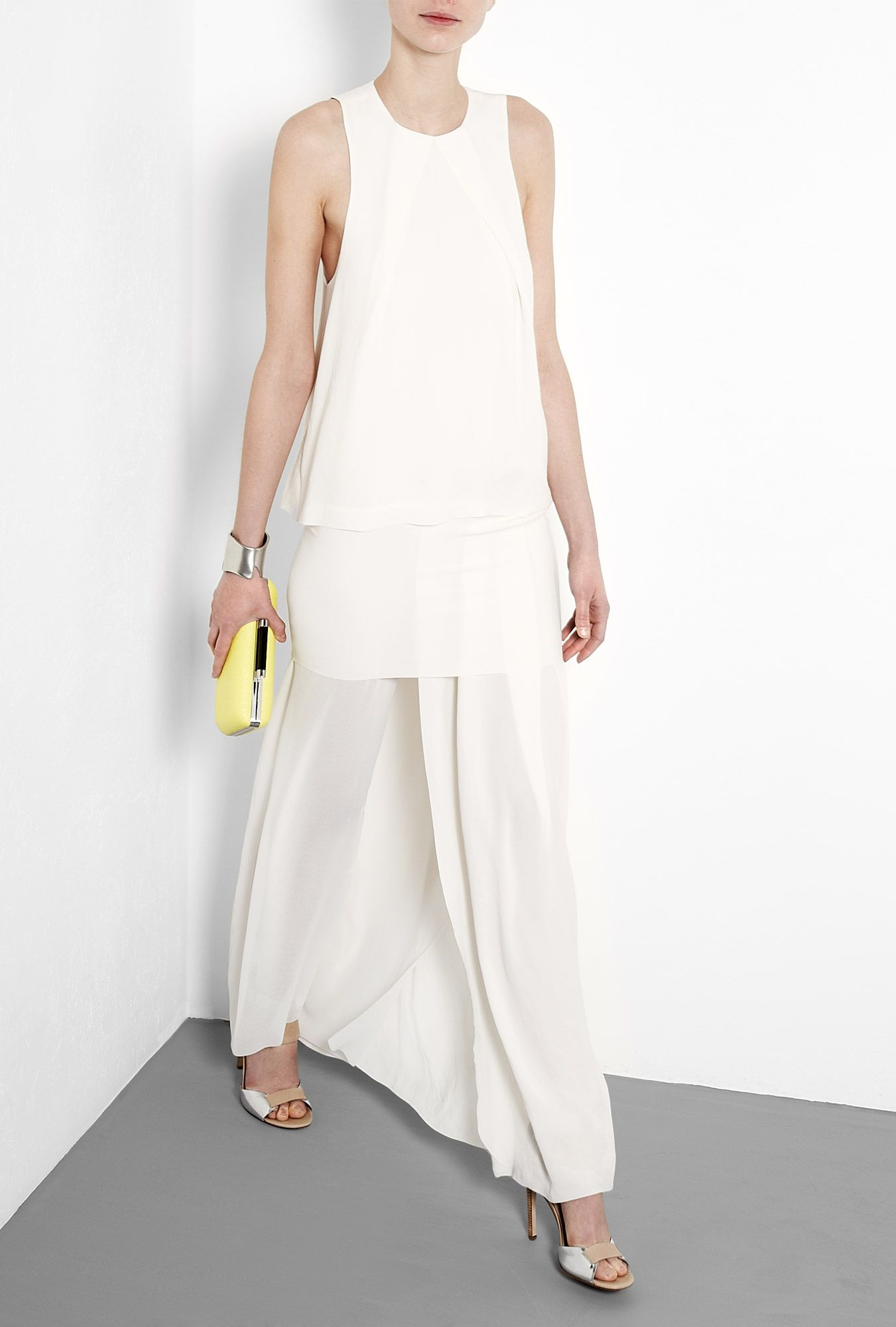 Acne lily white barika sheer maxi dress with images