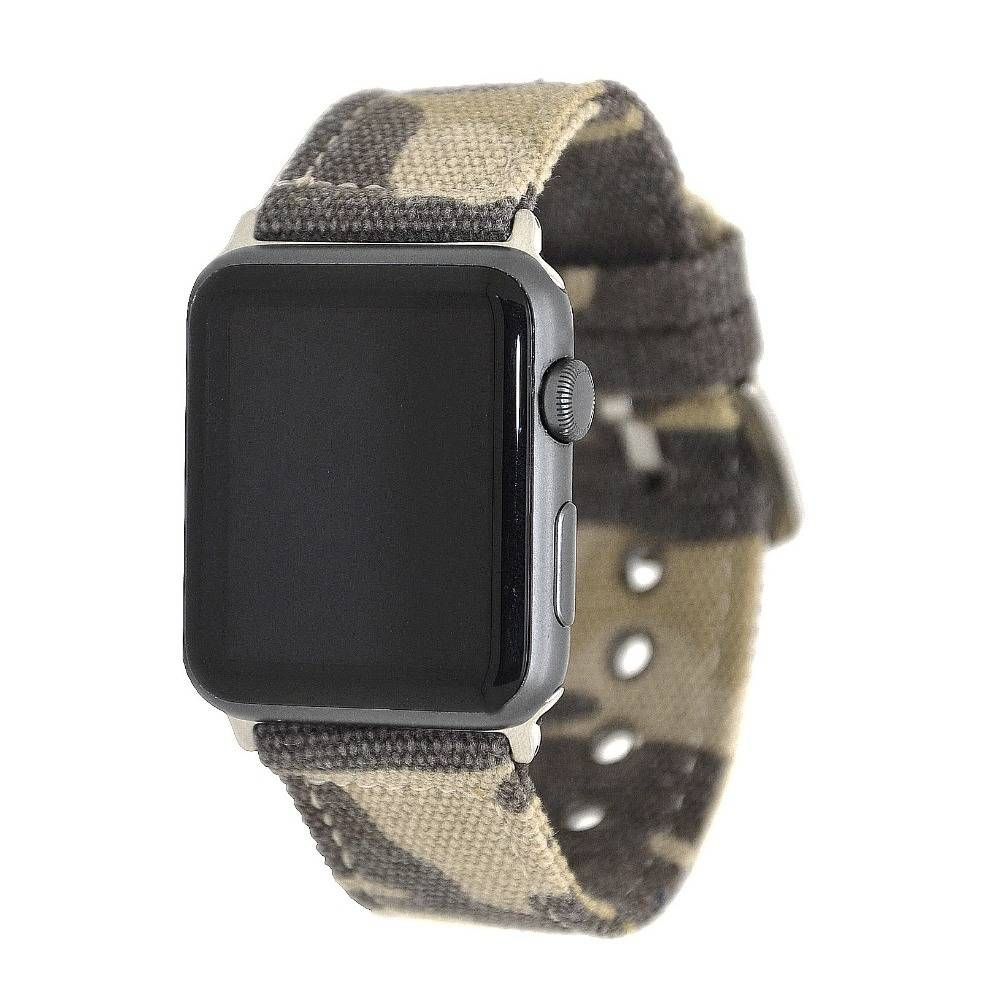 Canvas Jeans Camo Watch Band For Apple Watch Yoobandz Apple Watch Apple Watch Bands Watch Bands