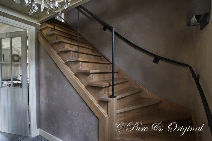 Houten trap en kalkverf familie trap in 2018 trap hal en interieur