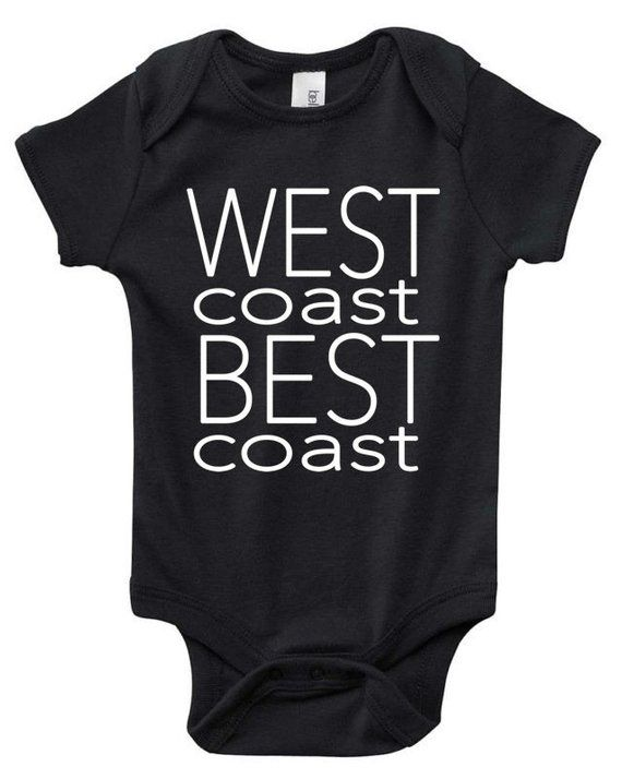 53217298e West Coast Best Coast Baby, Cali baby, California, Trendy, Urban, Hipster,  Boy, Girl, Baby Shirts, Baby Clothes, Baby Clothing, Toddler