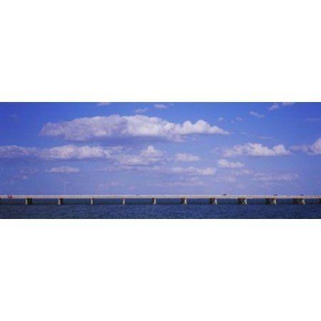 Bridge across a bay Sunshine Skyway Bridge Tampa Bay Florida USA Canvas Art - Panoramic Images (18 x 7)