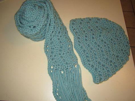Free Crochet Scarf Pattern Ripple Scarf With Tassels Hekel