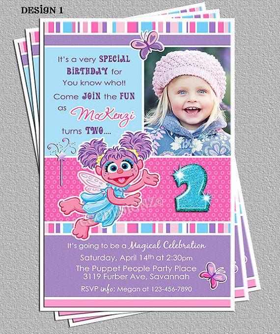 Abby Cadabby Birthday Party Invitations DIY by cgcdesignz – Abby Cadabby Birthday Invitations
