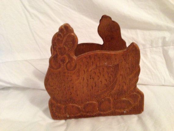 Wooden Turkey Napkin Holder
