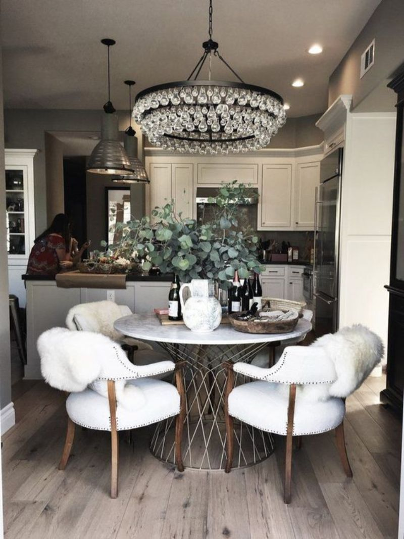 Amazing Supreme And Unique Round Dining Tables With A Modern Design Take A Look And Get Impressed Kitchen Table Decor Kitchen Dining Room Round Dining Table
