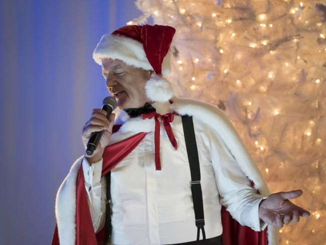 Bill Murray as himself, in a scene from Netflix's original holiday special A Very Murray Christmas, directed by Sofia Coppola. #interview #director