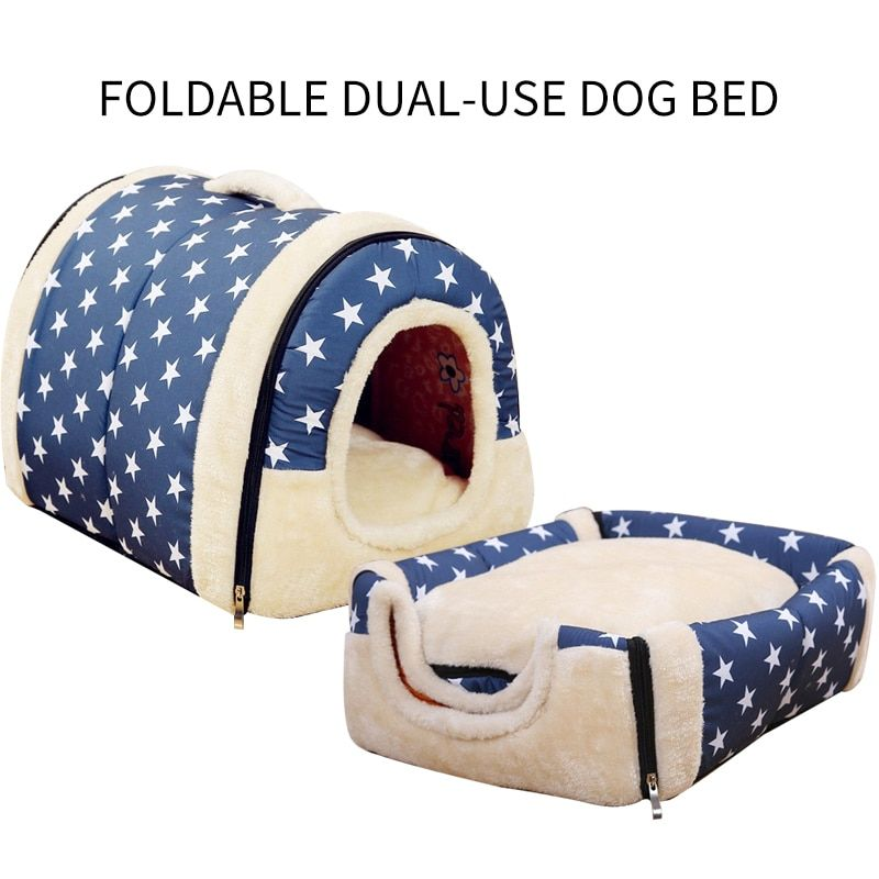 Indoor Foldable Pet House For Dogs And Cats Dog Bed Small Pets Dog Cat