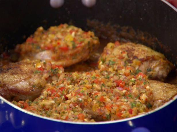 Chicken in romanesco sauce recipe sauces rachel ray and meals chicken in romanesco sauce forumfinder Images