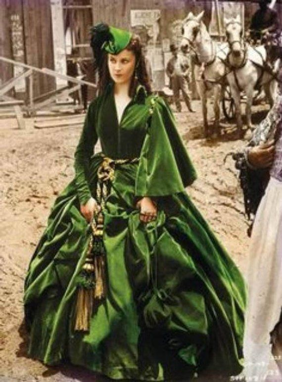 Scarlett Ohara Green Drapery Dress Civil War Dress Gone With The