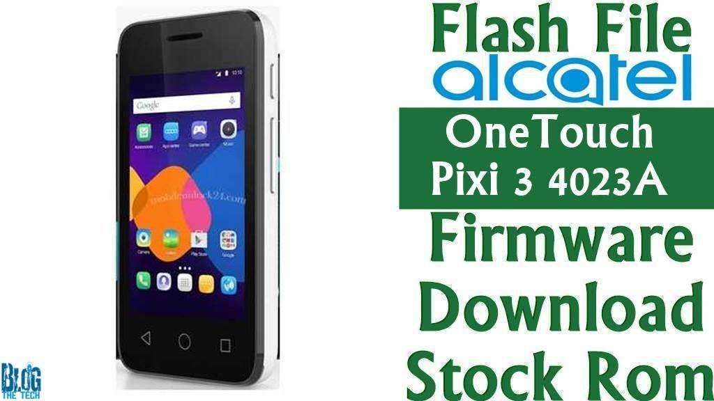 how to flash alcatel onetouch pixi 7 firmware