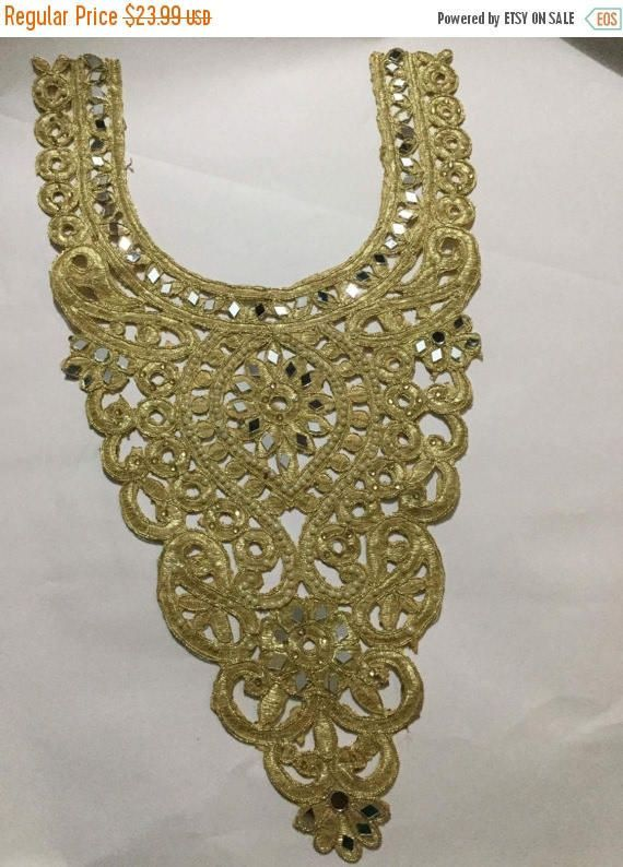 Silver Easy DIY Iron On Trim for Neckline from India