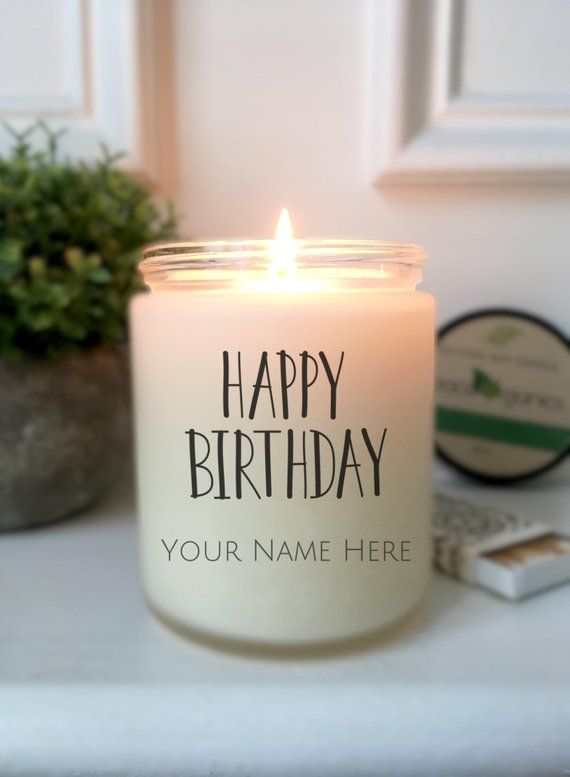 Birthday Gift For Personalized Candle Friend Happy Natural So