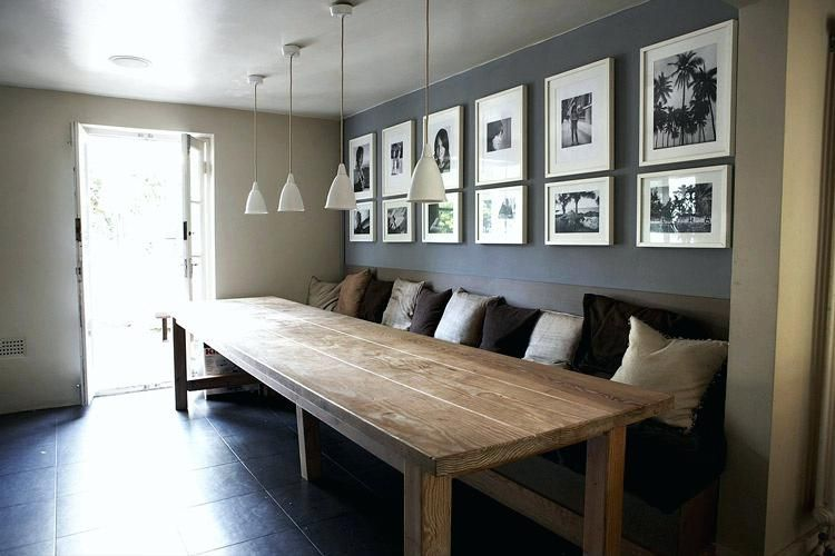 Dining Room With Table And Bench Against Wall Google Search