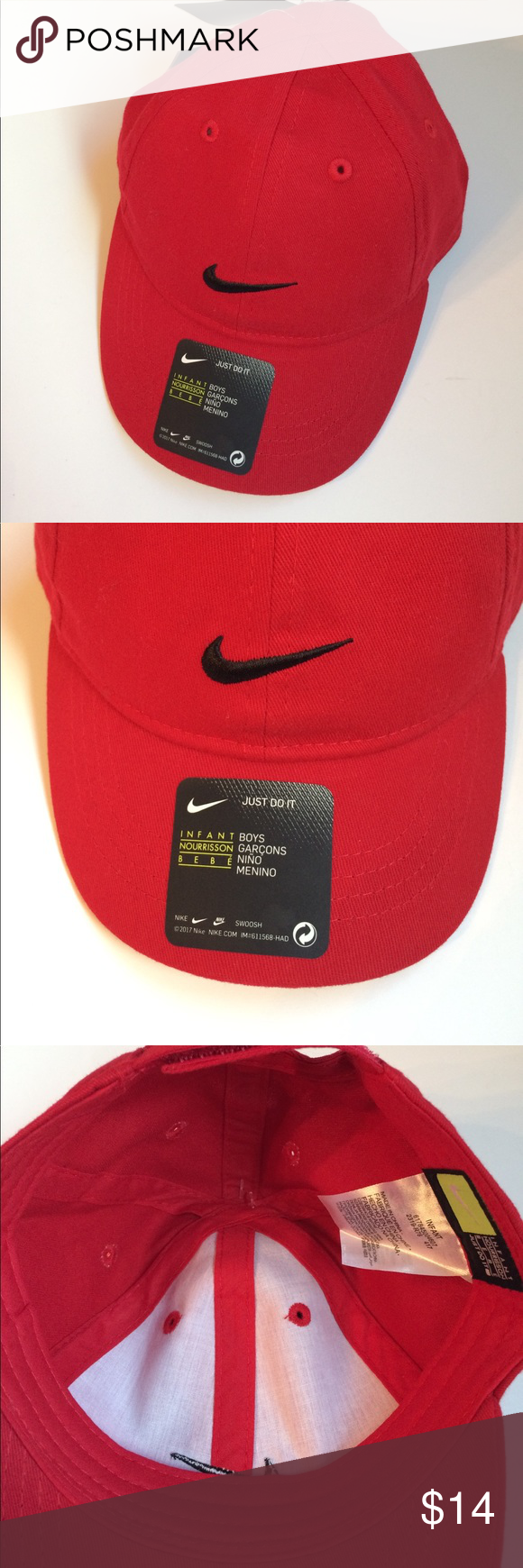 c243588c09d Nike NWT baseball cap hat red infant size Brand new! Infant NIKE Cap Red NWT  great for all year. Nike Accessories Hats