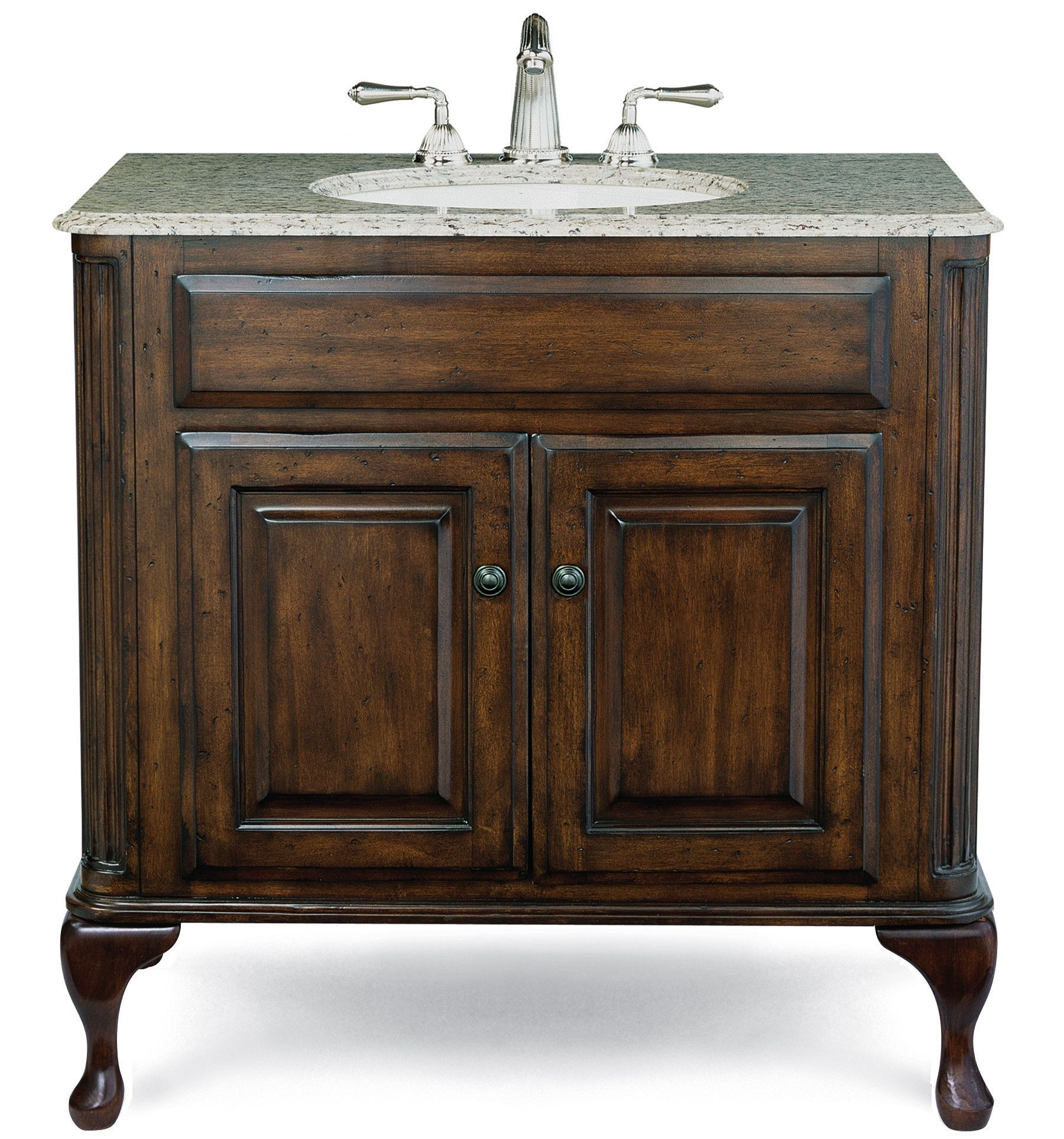 Cole Co Classic Vanity Base Large In Antique Brown Products