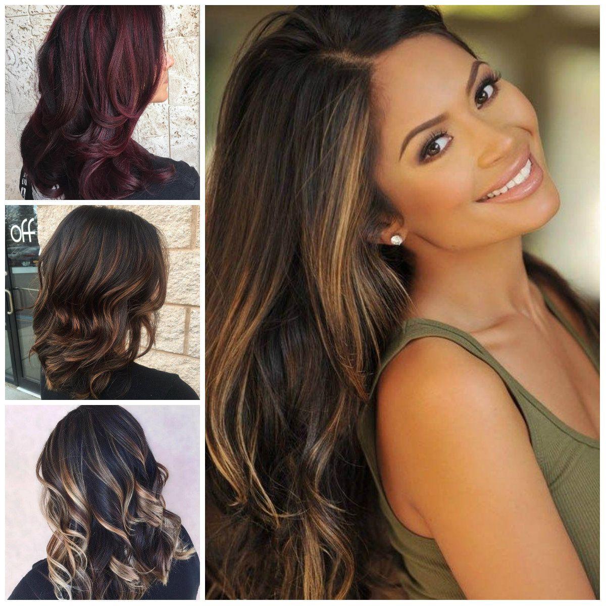 Dark hair colors highlights best color hair for hazel