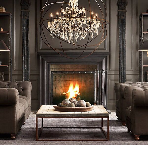 Foucault S Orb Crystal Chandelier In Polished Nickel Extra Large