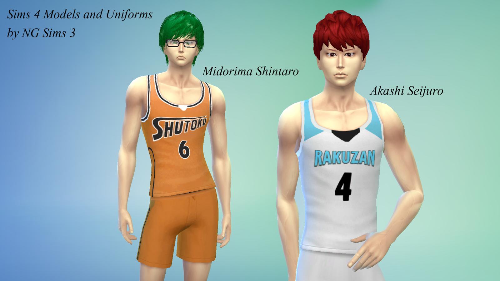 Sims 3 Anime Characters : Akashi seijuro midorima shintaro kuroko no basket