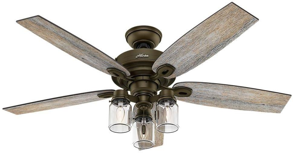 Ceiling Fan 52 In Indoor Regal Bronze Rustic Farm Style Ceiling
