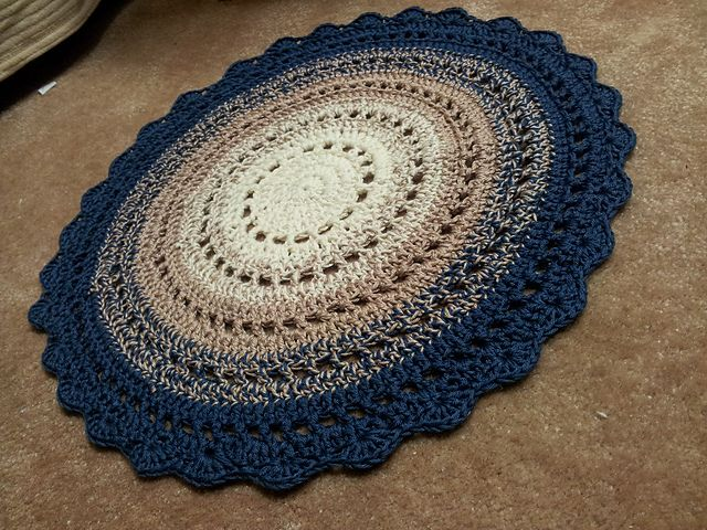 Crochet Rug Free Pattern Love This One A