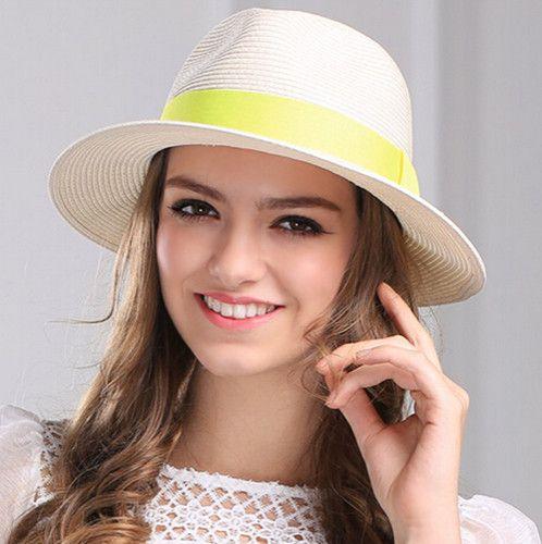 7102643fa19 White panama hat for women summer straw panama hat
