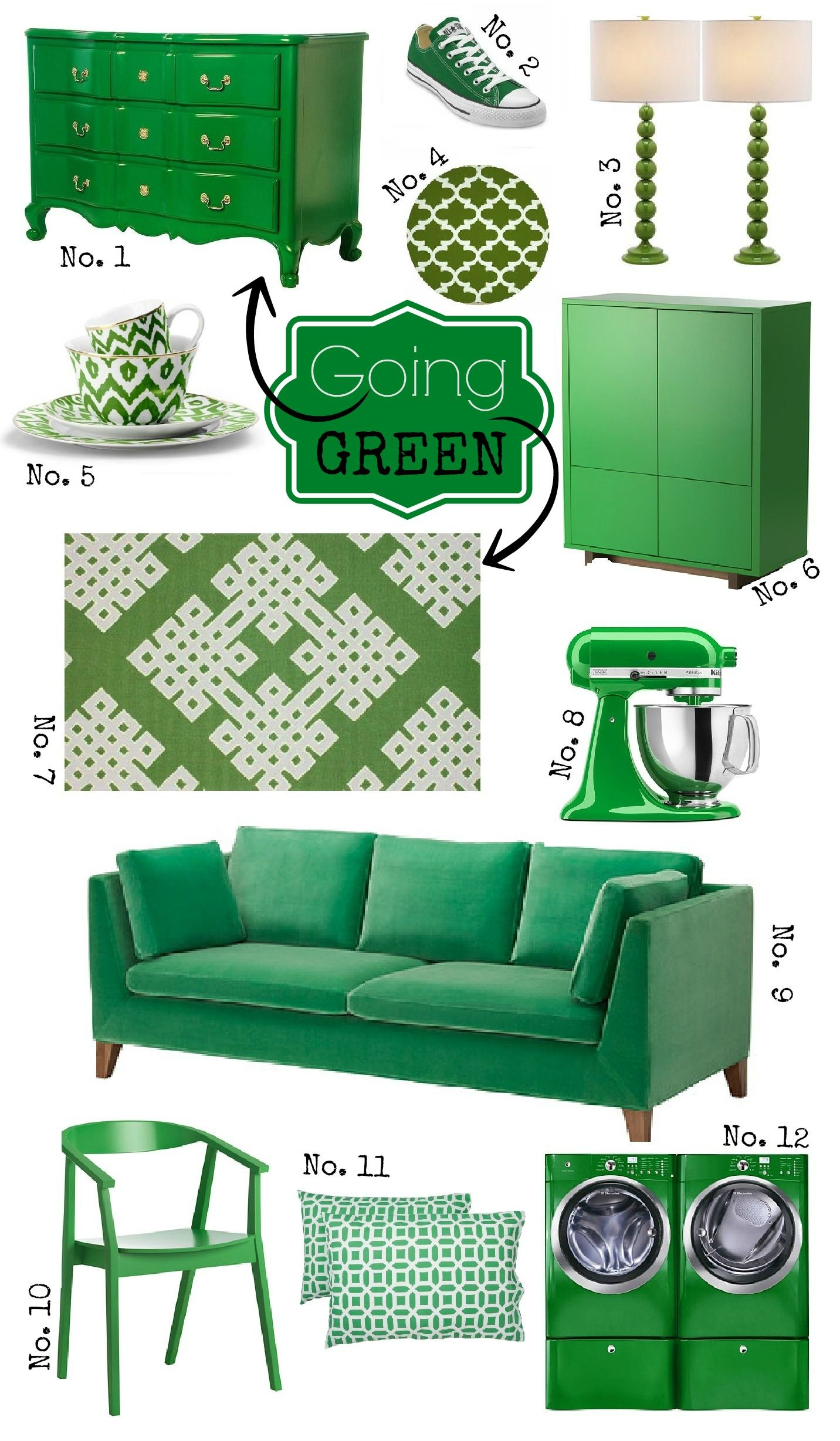 Going Green With Kelly Green Decor Green Painted Furniture Green Decor Green Home Decor
