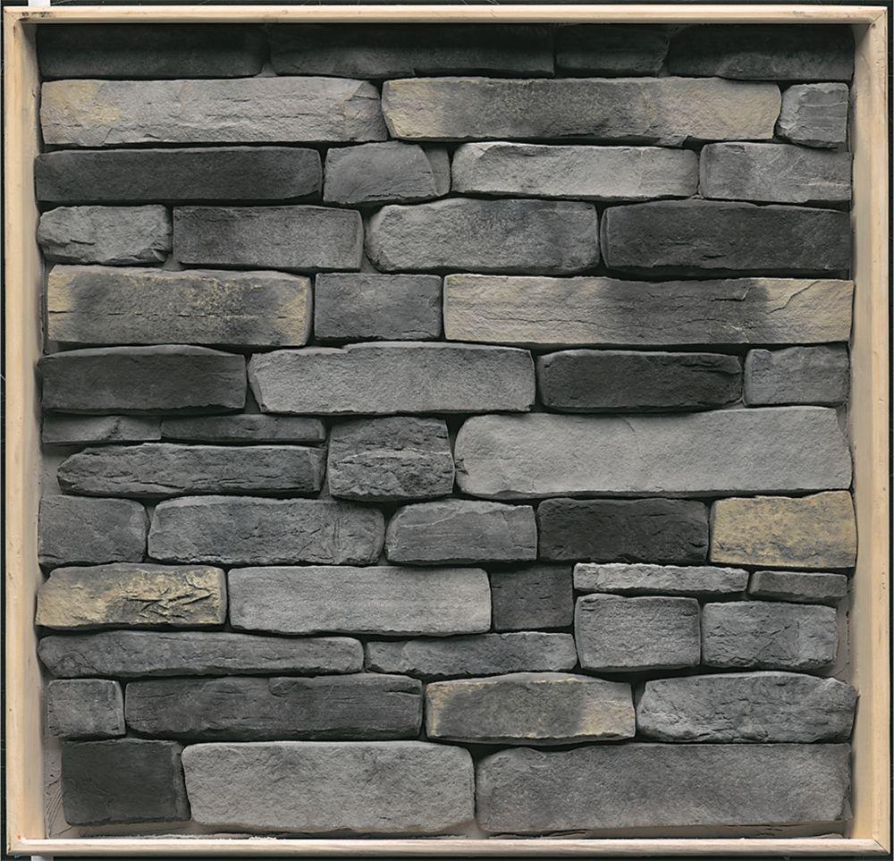 Stonecraft Ledgestone Kingsford Grey Flats 9 Sq Feet The Home Depot Canada Stone Veneer Stone Cottages Exterior Stone