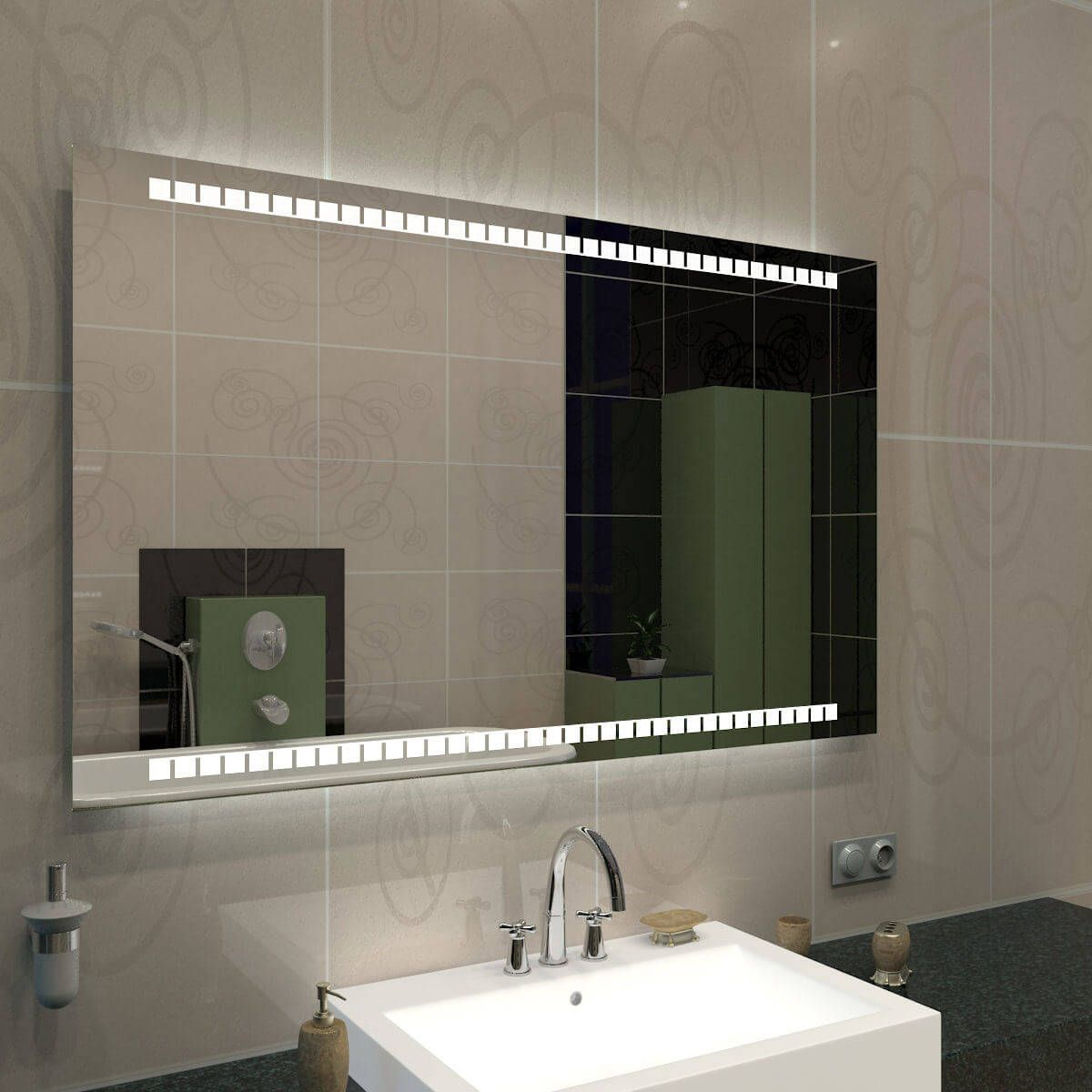 Spiegel Beleuchtet Touch V Thumbnail Bathroom Mirror Lighted Bathroom Mirror Bathroom Lighting