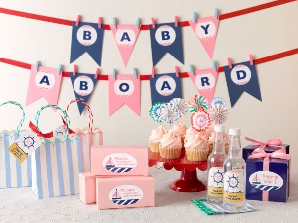 Baby Shower Decoration Singapore ~ Diy nautical gender reveal baby shower pregnancy baby