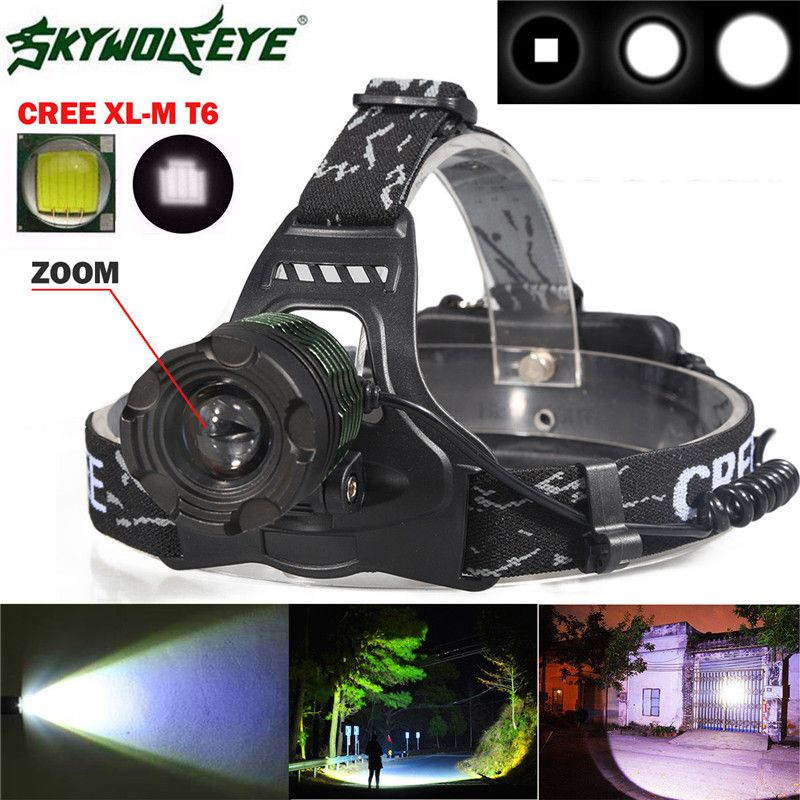 5000LM CREE XM-L T6 LED Headlamp USB Rechargeable Waterproof Headlight Battery