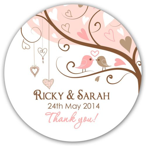 Wedding Favour Stickers Personalised