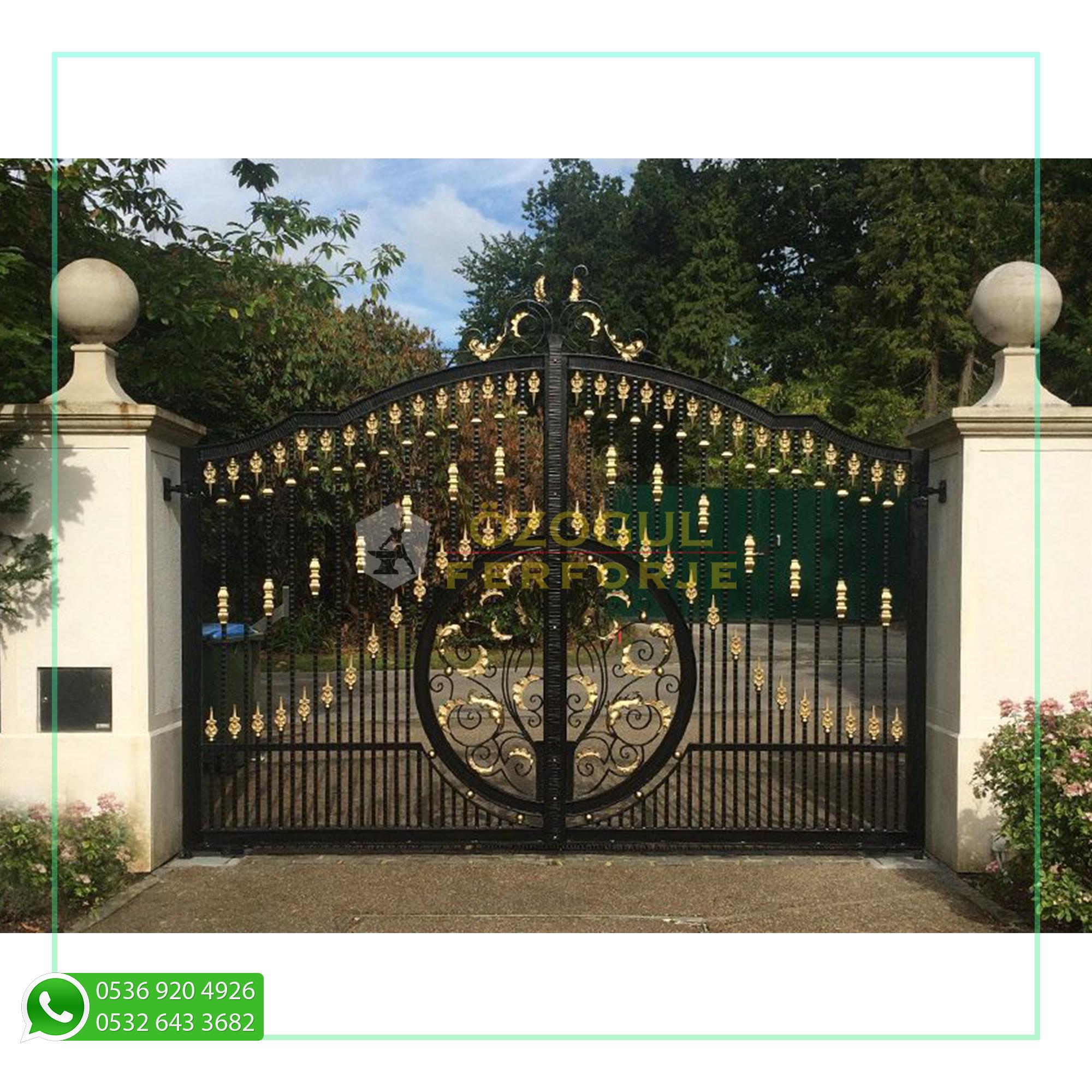 Puerta de jardín de diseño especial de hierro forjado / Jardín de diseño especial ...