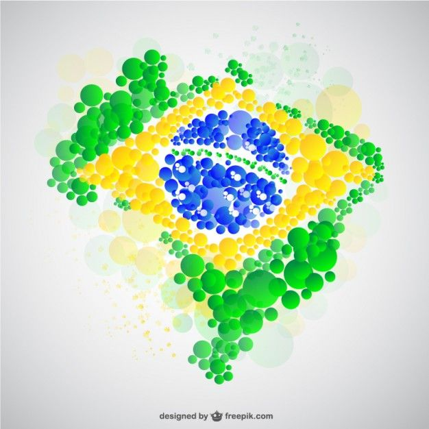 Download Brazil Map Made Of Bubbles For Free Mapa Brasil