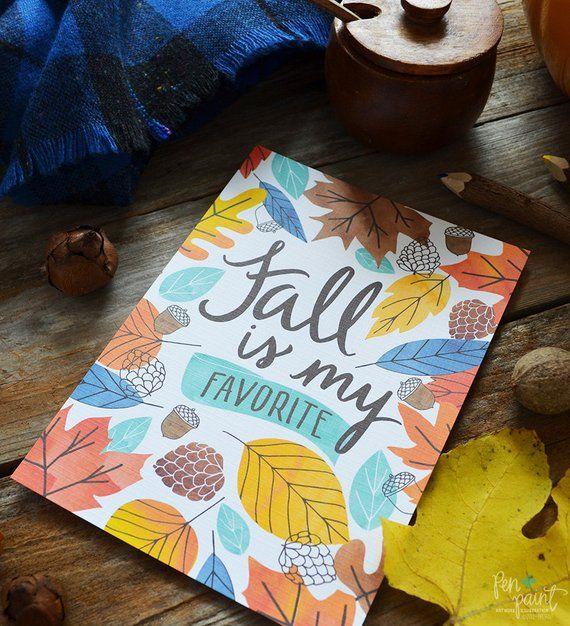 Fall is my favorite, Happy Fall, Hello Autumn, seasonal Decor, Welcome Fall, Illustration, Autumn Le #helloautumn