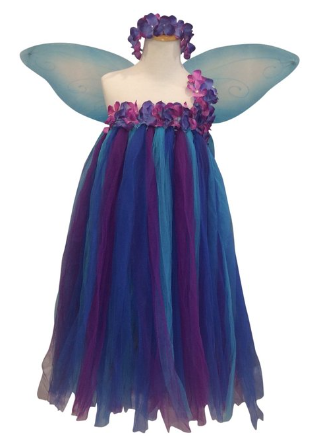 Cute idea for a fairy costume. Easy enough to make with tulle ...