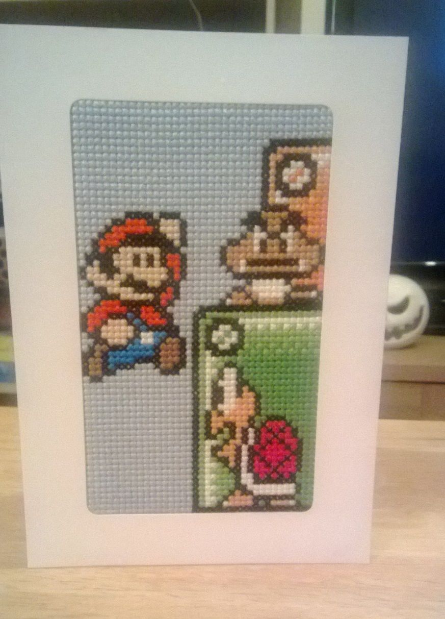 super mario cross stitch card b gelperlen vorlagen. Black Bedroom Furniture Sets. Home Design Ideas
