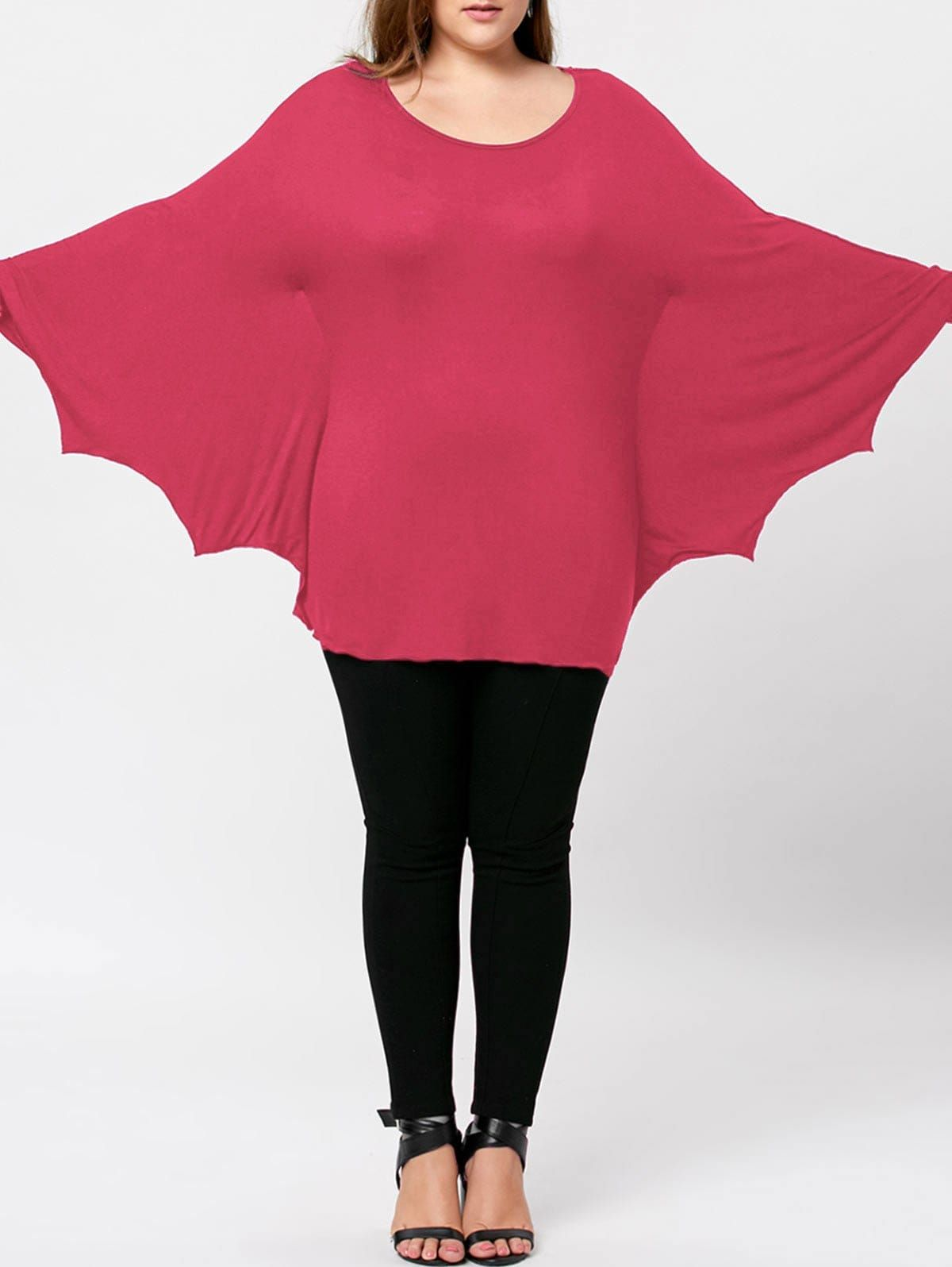 4b0c7fcc Plus Size Halloween Batwing T-shirt - WATERMELON RED 4XL | Nevada ...