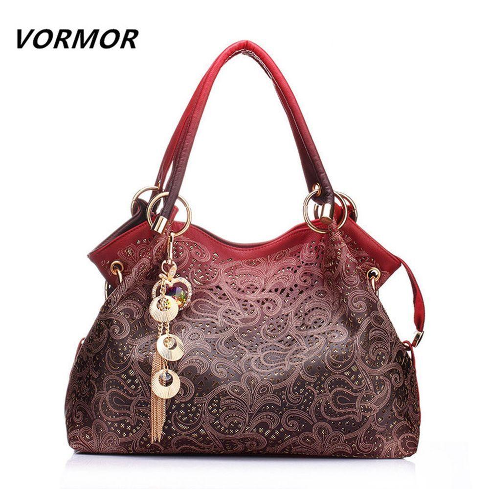 023b3b8484 Bag · VORMOR Hollow Out Large Leather Tote Bag 2017 Luxury Women Shoulder  bags .