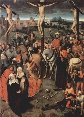 Altar triptych from the Lübeck Cathedral (detail) - Hans Memling