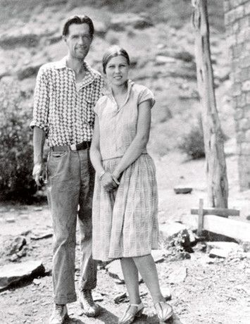 """Harry and Leone Goulding in Monument Valley, 1927. Courtesy of Goulding's Lodge.  Without these two, the history of westerns, the quintessential American film genre during the 30 years between """"Stagecoach"""" (1939) and """"The Wild Bunch"""" (1969), would be very different indeed."""