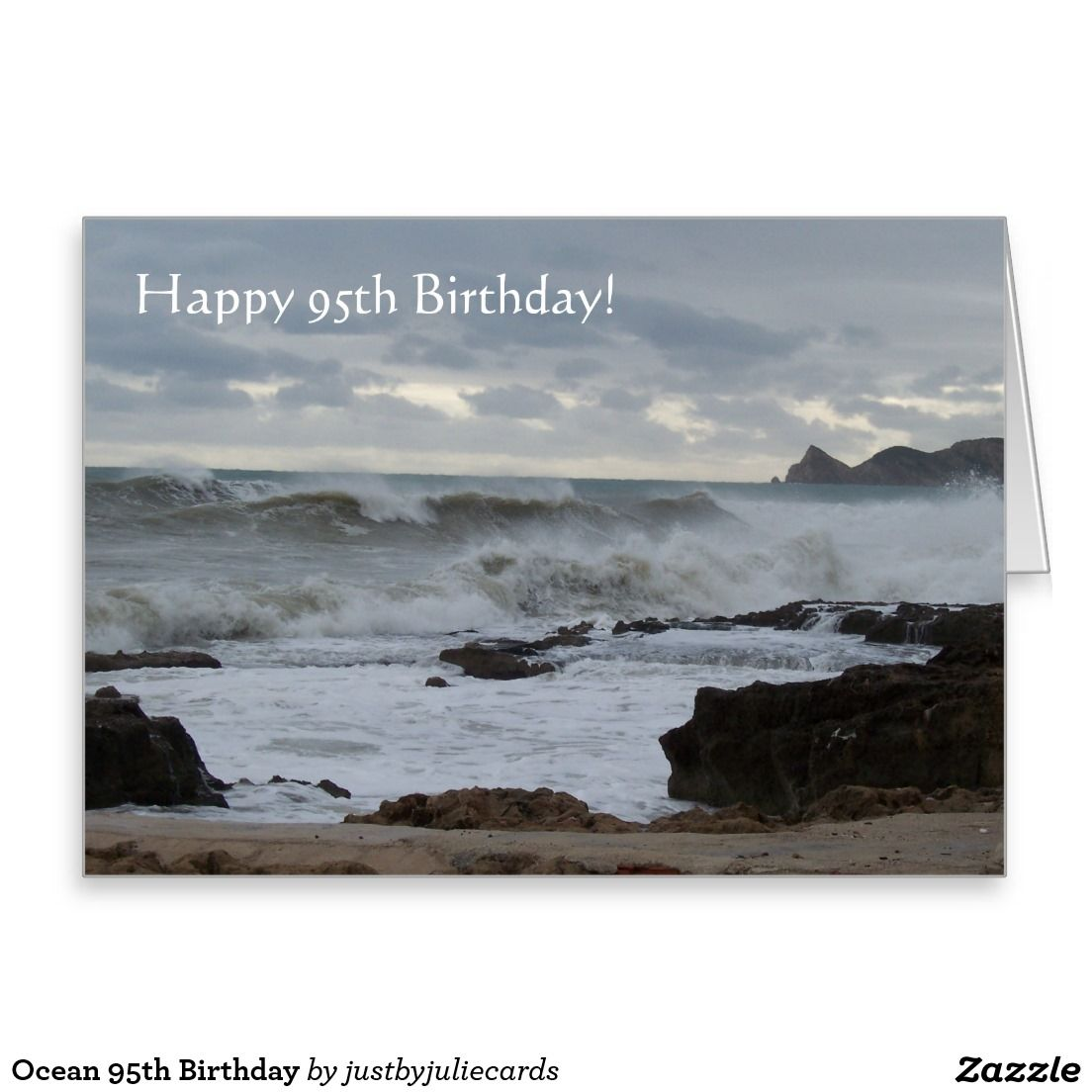 Ocean 95th Birthday Greeting Card