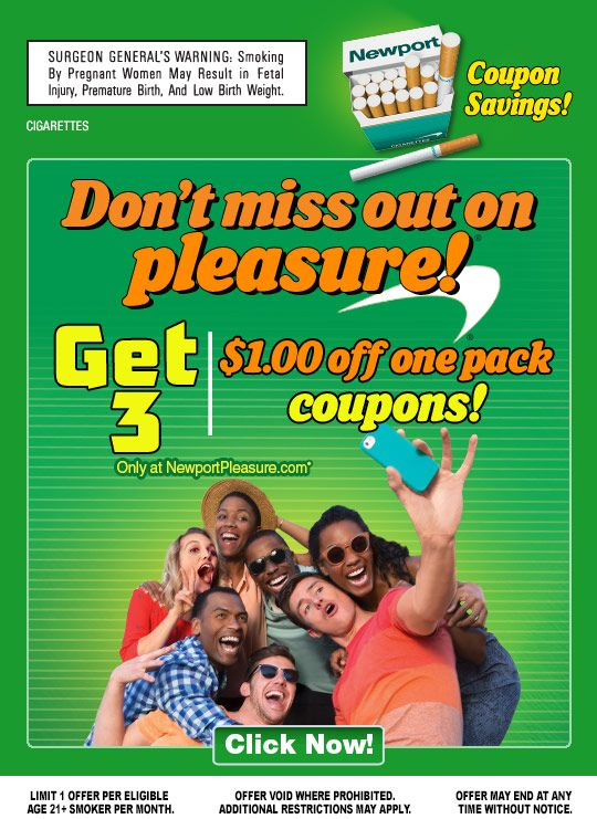 dont miss out on pleasure get three 100 off one pack coupons only at newport pleasurecom