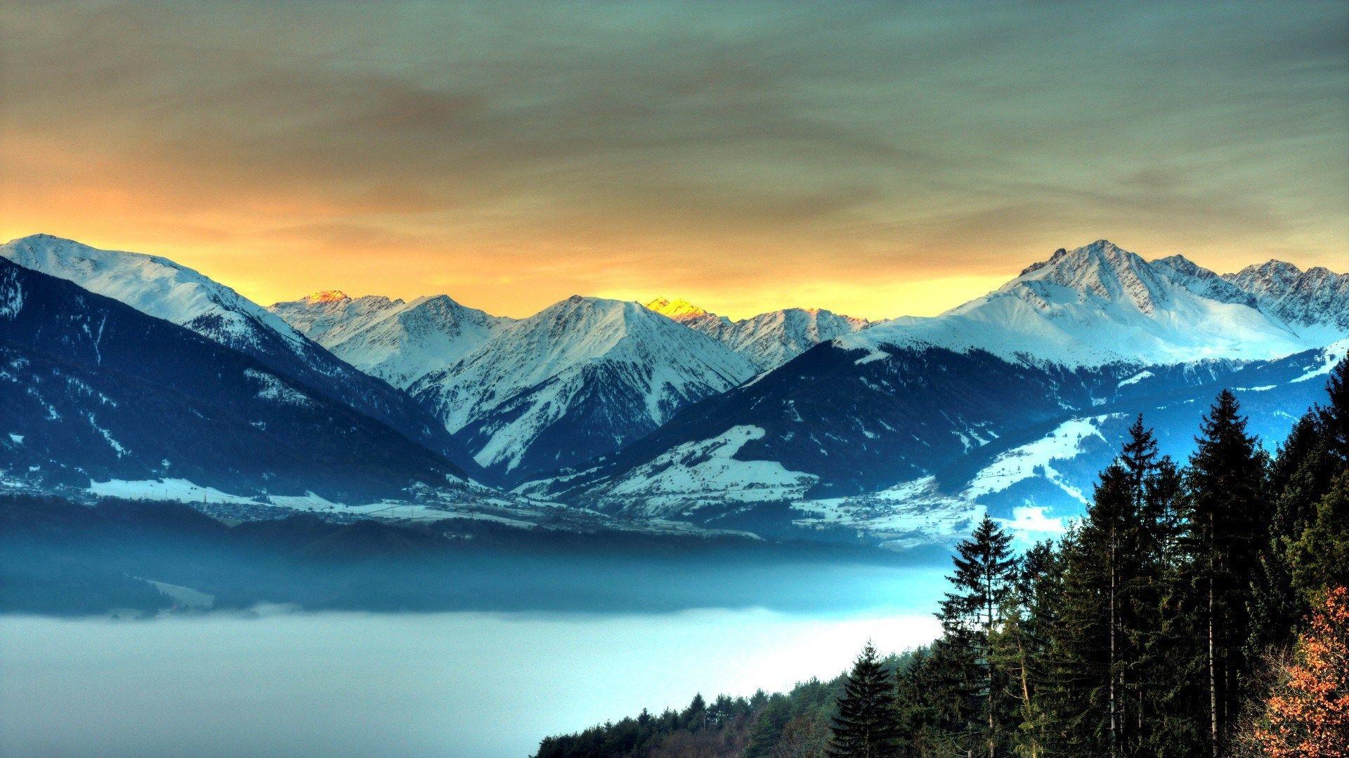 Computer Desktop Snowy Mountain Wallpaper Full Hd Com Imagens