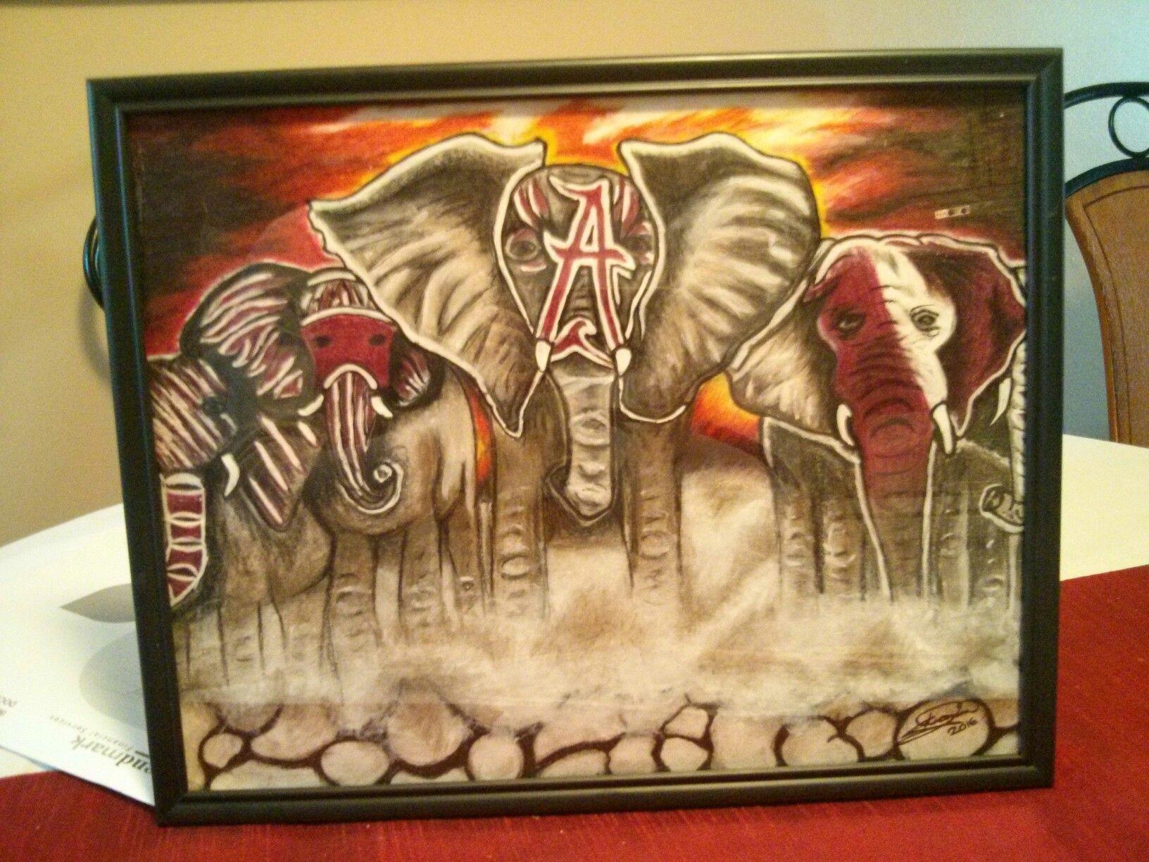 War Paint Alabama Elephants | My Drawings | Pinterest